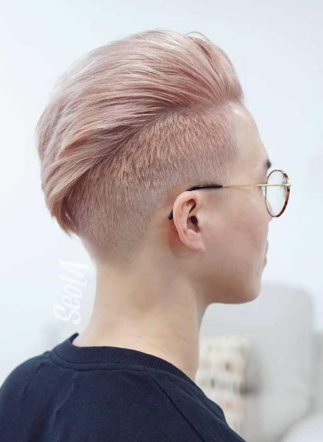Pastel Pink Undercut Hairstyle