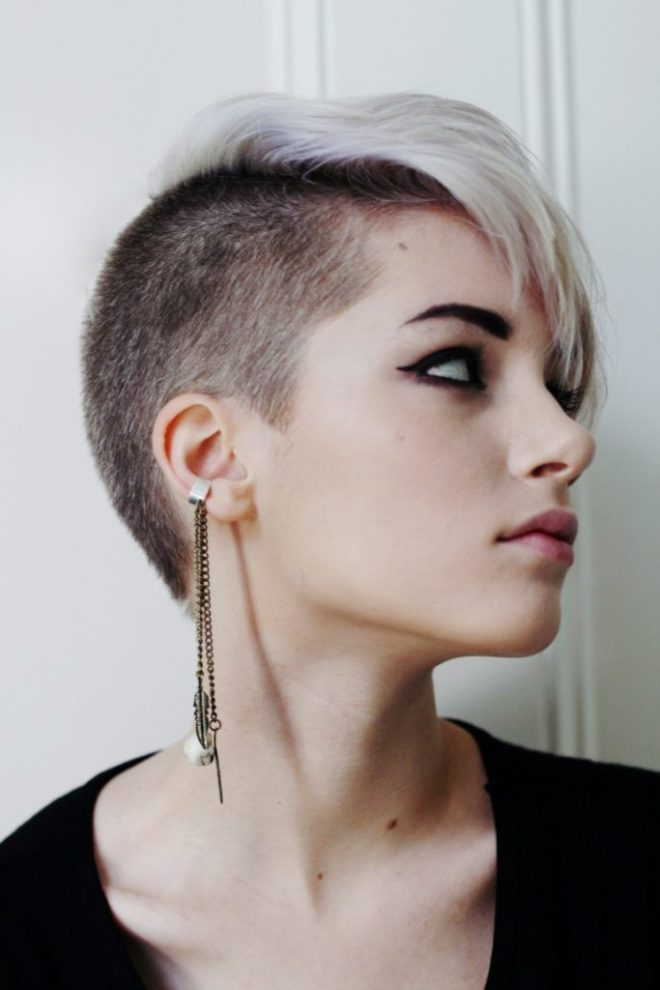Undercut Pixie with Side Bangs
