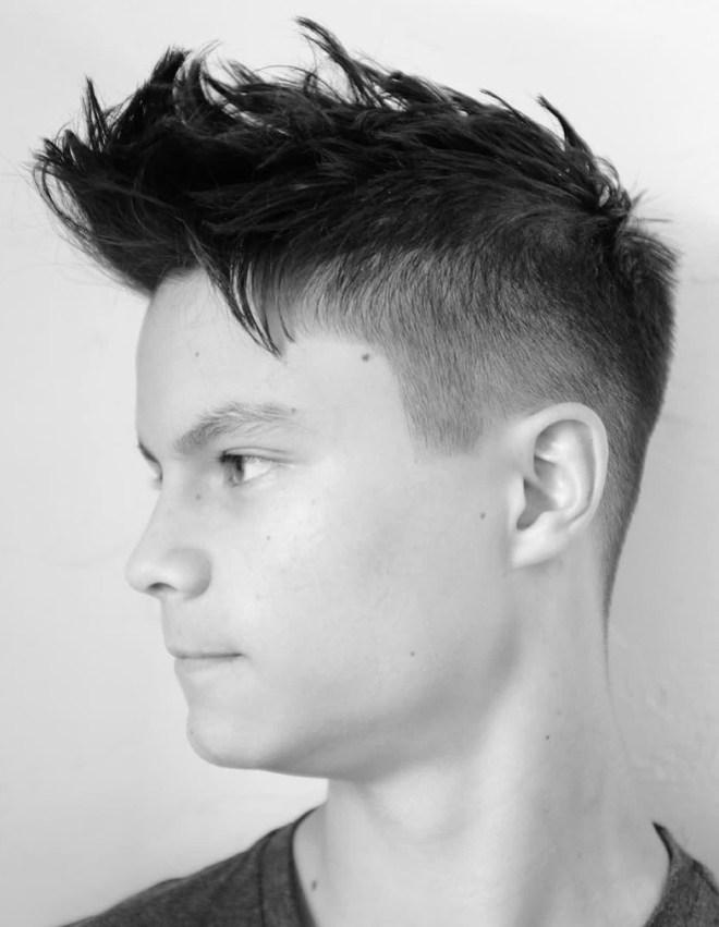 Pompadour Short Haircut