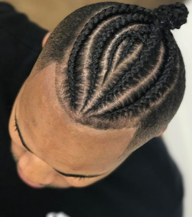 Braided Skin Fade Hairstyle