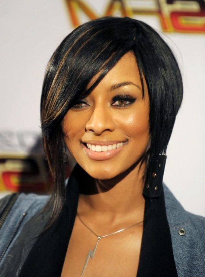 Inverted Bob Short Hairstyle for Black Women