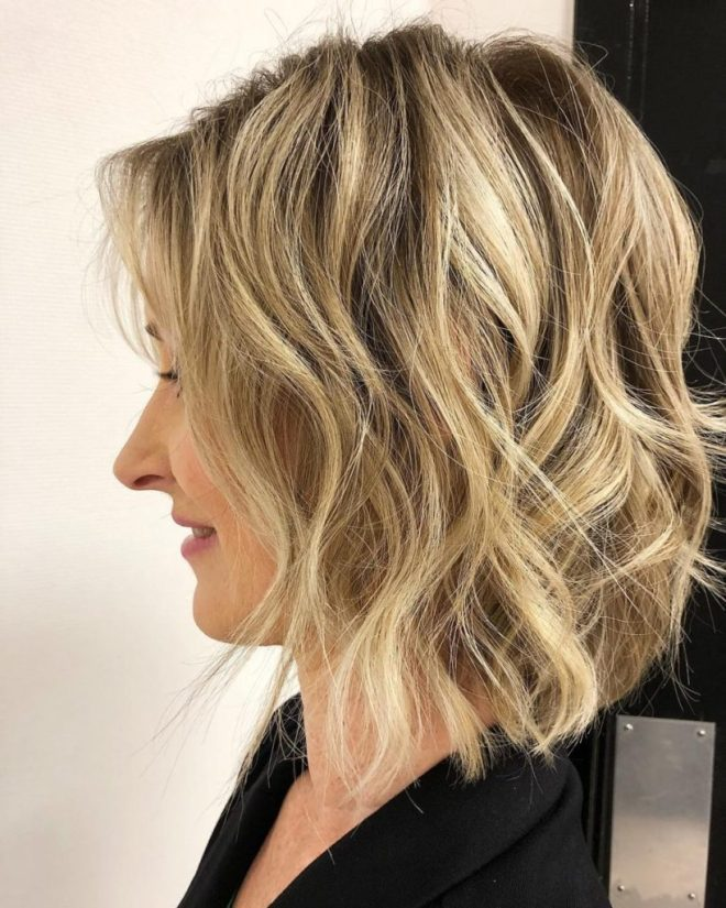 Inverted Bob Short Hairstyle For Fine Hair