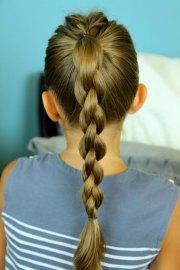 make chain braid ponytail