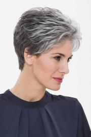grey short hairstyles women