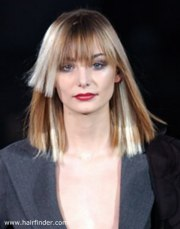shoulder length blunt cut hairstyle