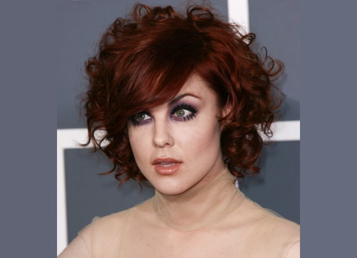 Anna Nalick With Curly Short Red Hair