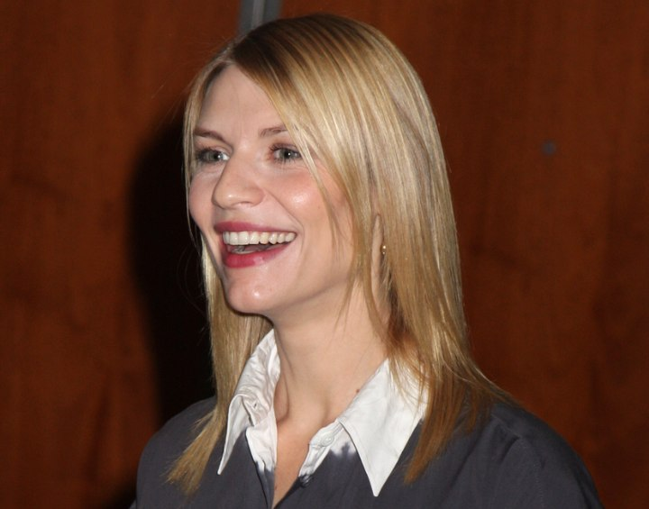Claire Danes Thin Fine Hair And A Long Tapered Haircut