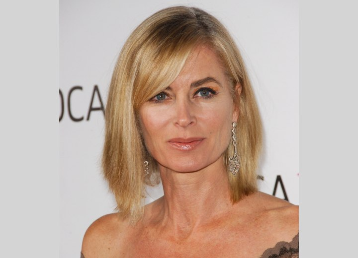 Eileen Davidson Medium Length Straight Hairstyle For