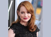 emma stone's long russet hair