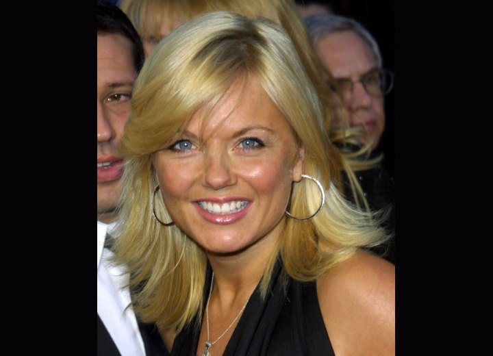 Geri Halliwell Long Springy And Dynamic Hairstyle With