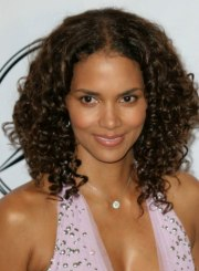 halle berry's long hair with small