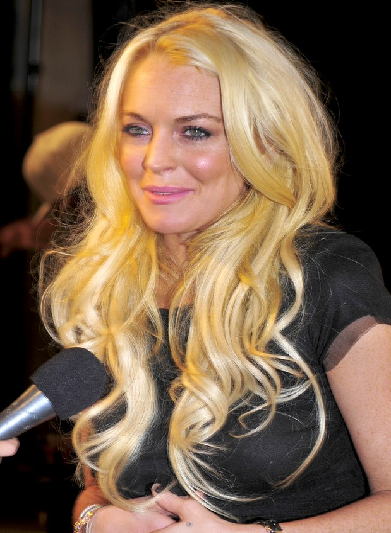 Lindsay Lohans long curls