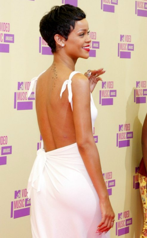 Rihanna  Easy to manage and to maintain short pixie haircut