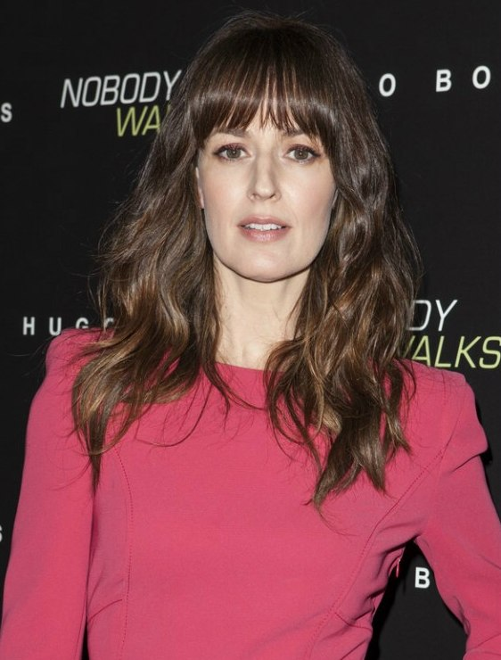 Rosemarie DeWitt Wearing A Long And Layered Brunette Hairstyle