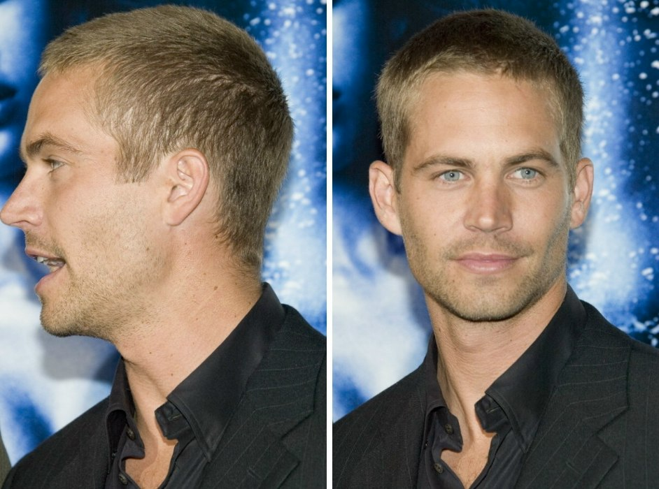 Paul Walker Sporting A Uniformly Clippered Buzz Cut