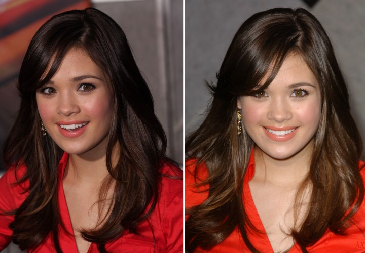 High school girl look and makeup for Nicole Gale Anderson and Miranda Kerr wearing transparent