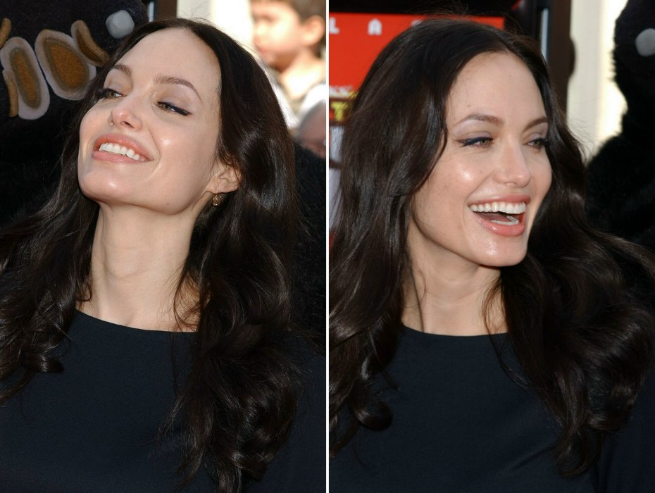 Angelina Jolies Dark Long Below The Shoulders Hairstyle