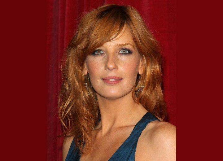 Kelly Reilly  Long layered hairstyle that brings all
