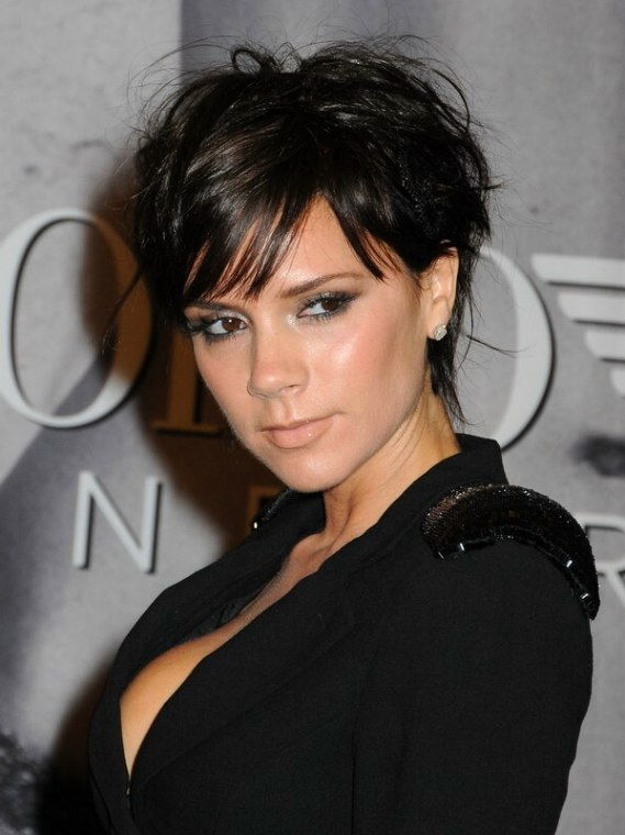 Victoria Beckhams new pixie with ends upon the nape and