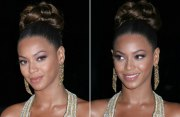 beyonce knowles with hair worn