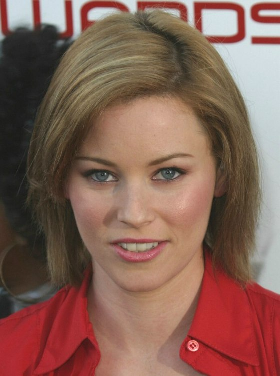 Elizabeth Banks Medium Length Straight Hairstyle With A
