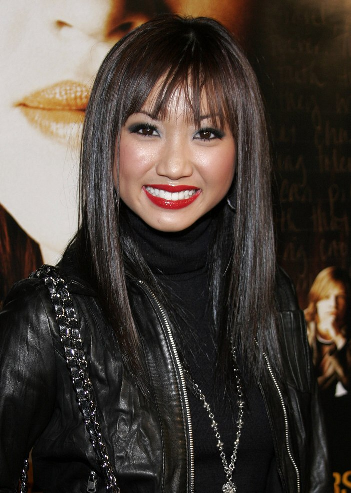 Brenda Song Looking Natural With Smooth Black Hair And