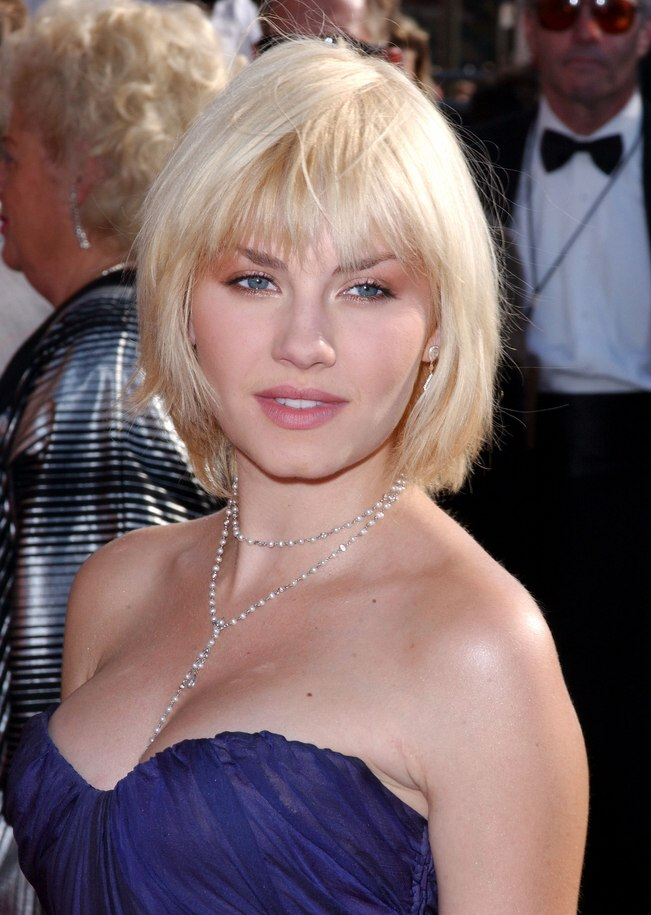 Elisha Cuthbert  Hairstyle that covers the neckline and