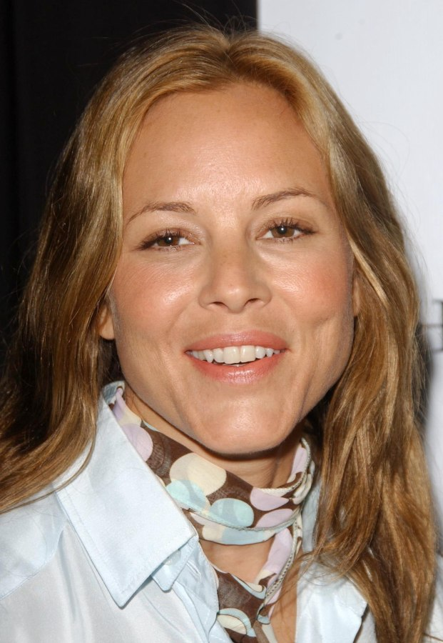 Maria Bello  Matching hair color for brown eyes and a