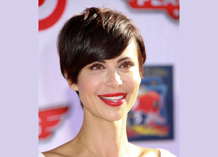 Catherine Bells pixie  New short haircut with a tapered
