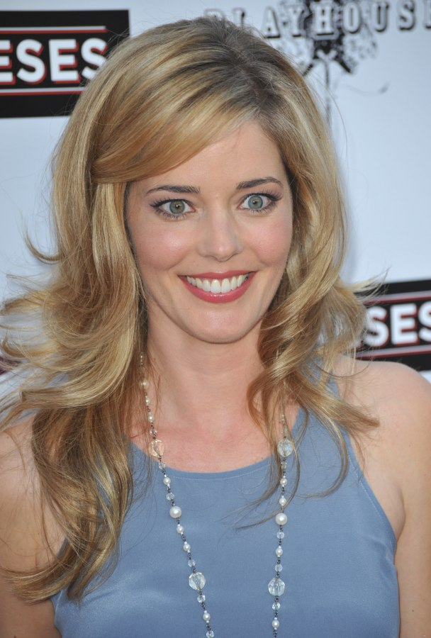 Christina Moore Soft Long Hairstyle With Large