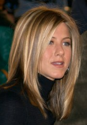 jennifer aniston sleek ironed