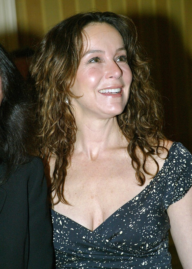 Jennifer Grey  Long hairstyle that keeps the forehead free for women ages 50 and older