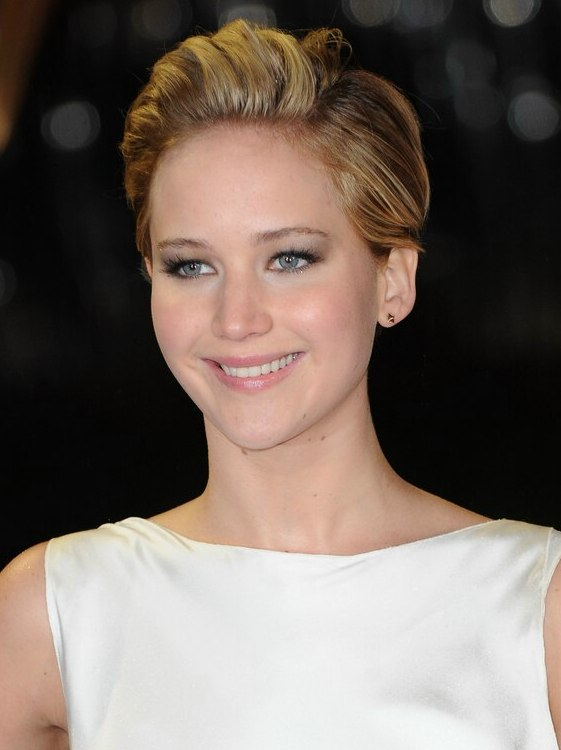 Jennifer Lawrence Hair Cut In A Pixie With A Short
