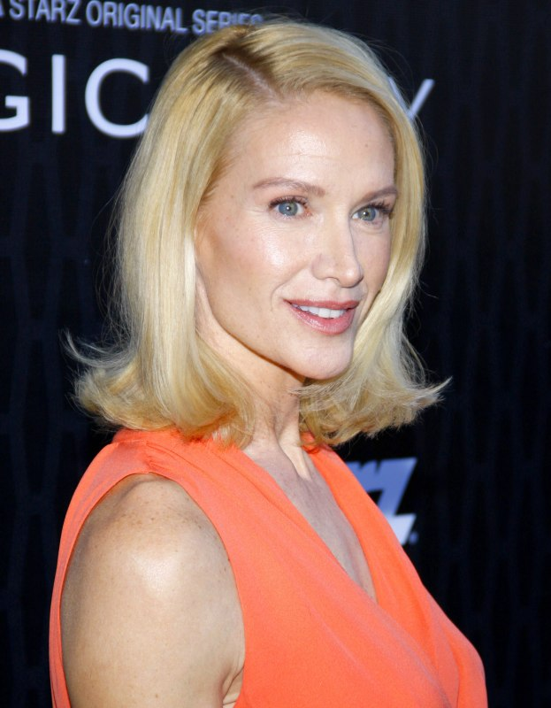 Kelly Lynch  Midlength hairstyle with fullness for a fifty plus woman