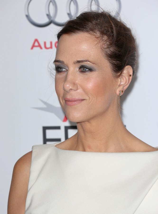 Kristen Wiig Ballerina Knot Hairstyle For 40 Plus Women