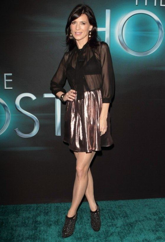 Perrey Reeves  Timeless long and just past the shoulders