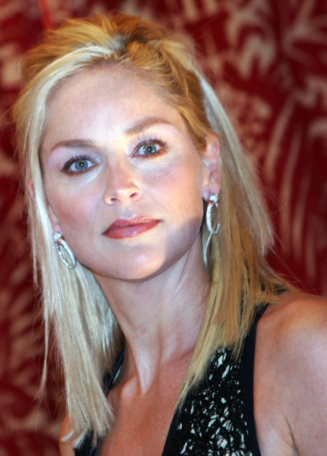 Sharon Stone With Long Hair That Makes Her Look Younger