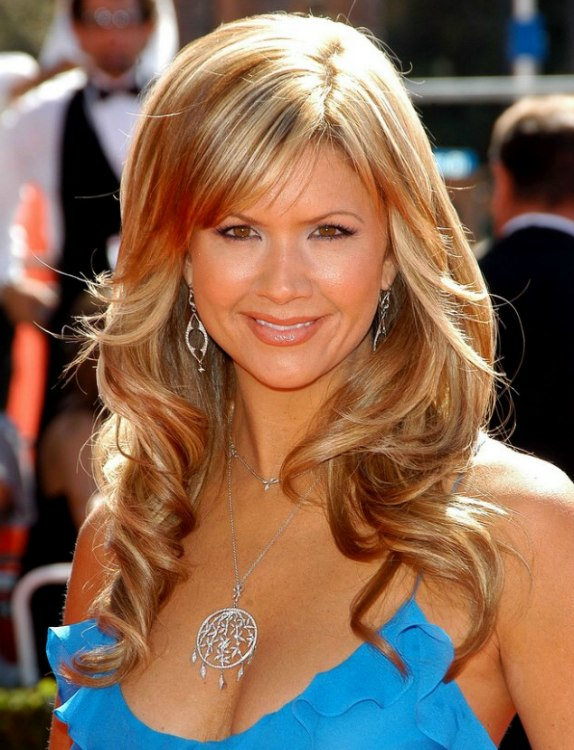 Nancy ODell With Waves Curls Lowlights And Highlights