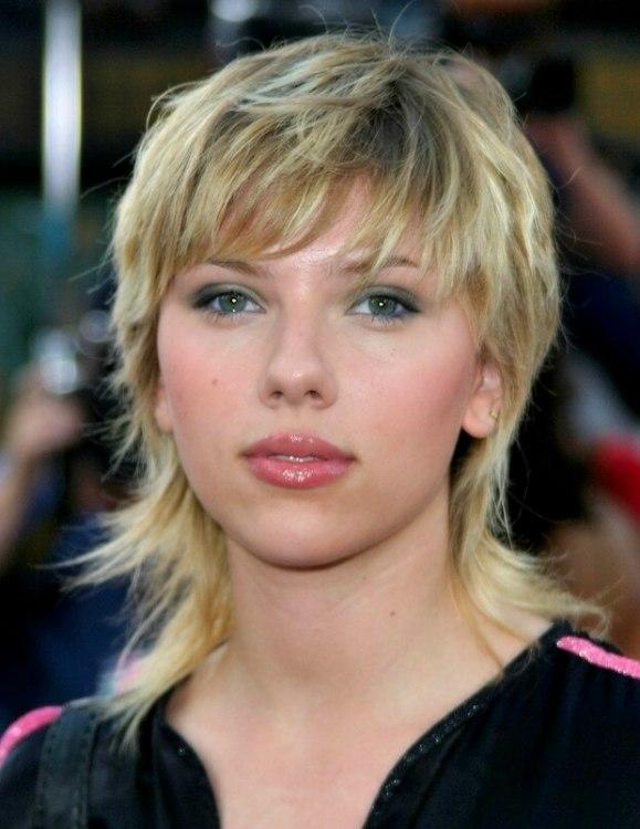 Scarlett Johansson Hair Long Shag Cut With Flipping Ends