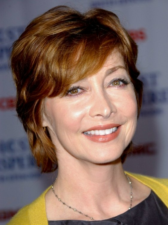 Sharon Lawrence Short Shag Haircut That Covers Half Of The Neck