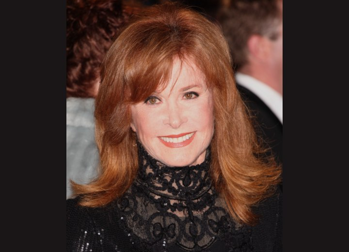Stefanie Powers Flattering Long Hairstyle For A 70 Years