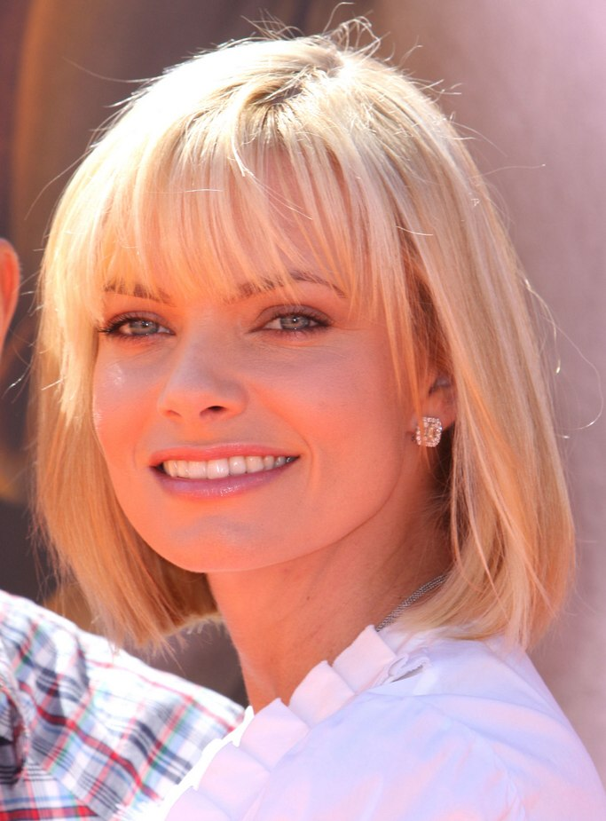 Jamie Presslys undercut bob with her hair halfway down