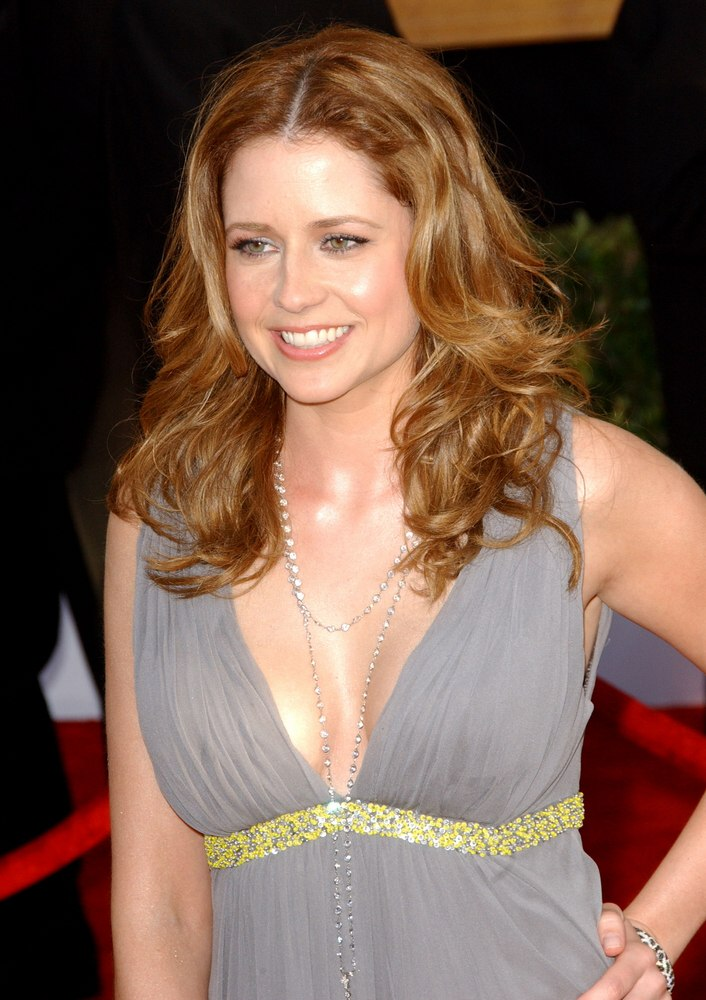 Jenna Fischer with waves around her cheeks and Jennifer Morrison with a long feathery hairstyle