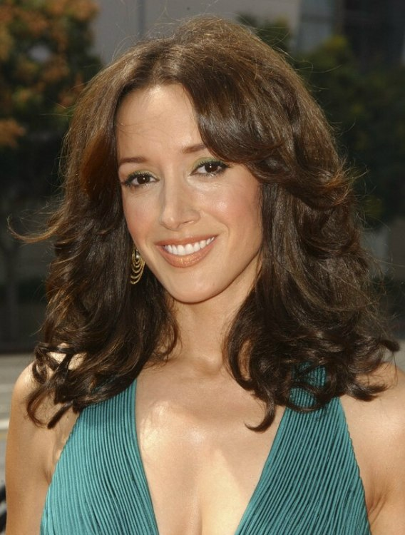 Jennifer Beals With Her Hair In Easy Curls That Swing Up