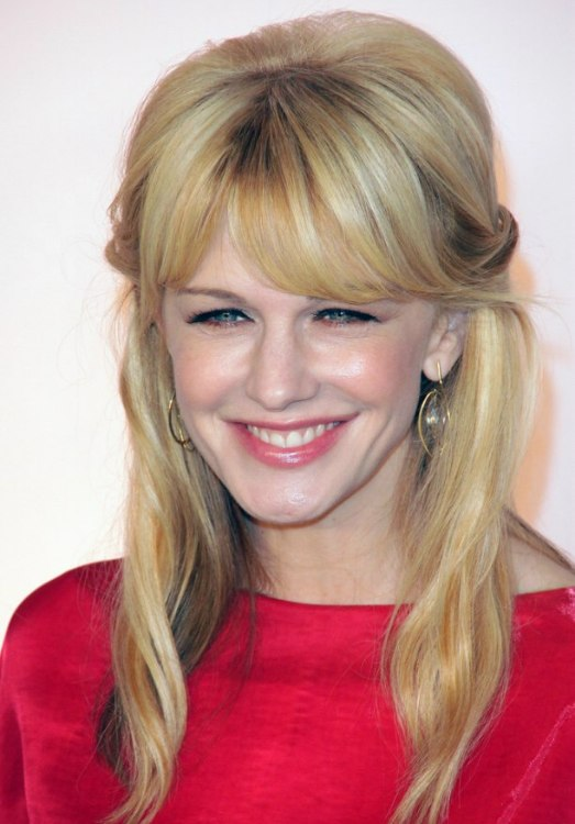 Kathryn Morris long hair with several tones of blondes