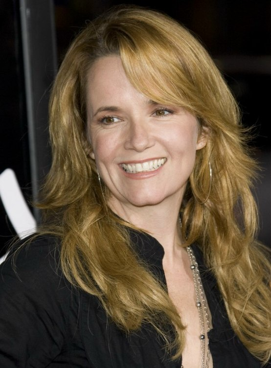 Lea Thompson With Her Hair In A Long Gypsy Haircut With Curls