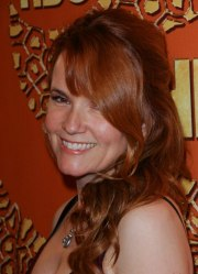 lea thompson with long red