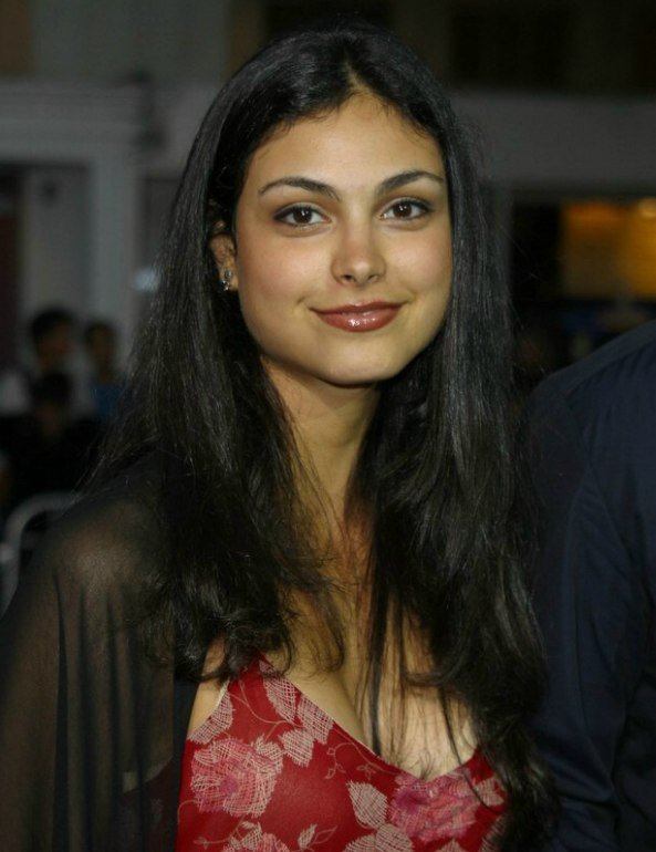 Morena Baccarins long hair with a centered part
