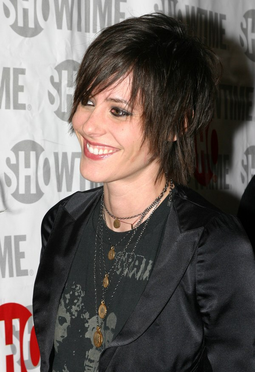 Katherine Moennig's Shaggily Short Haircut And Chopped Look