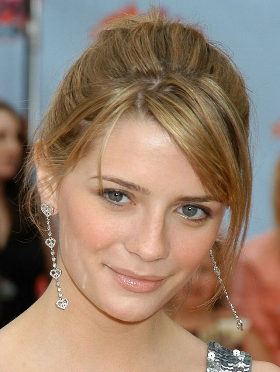 Mischa Barton Wearing Her Hair In A High And Bouncy